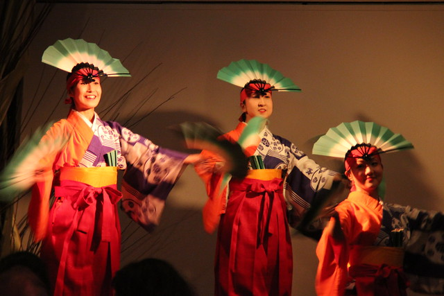 Japanese fan dance at Small Scale. Photo by Rebecca Bullene.