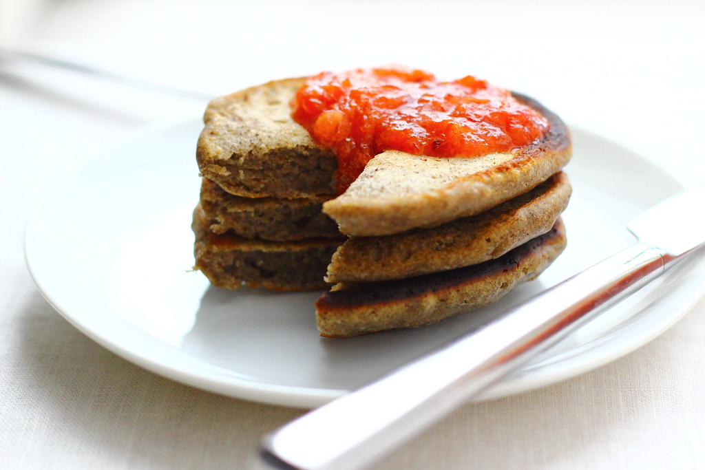 Buckwheat Pancakes with Citrus Preserves