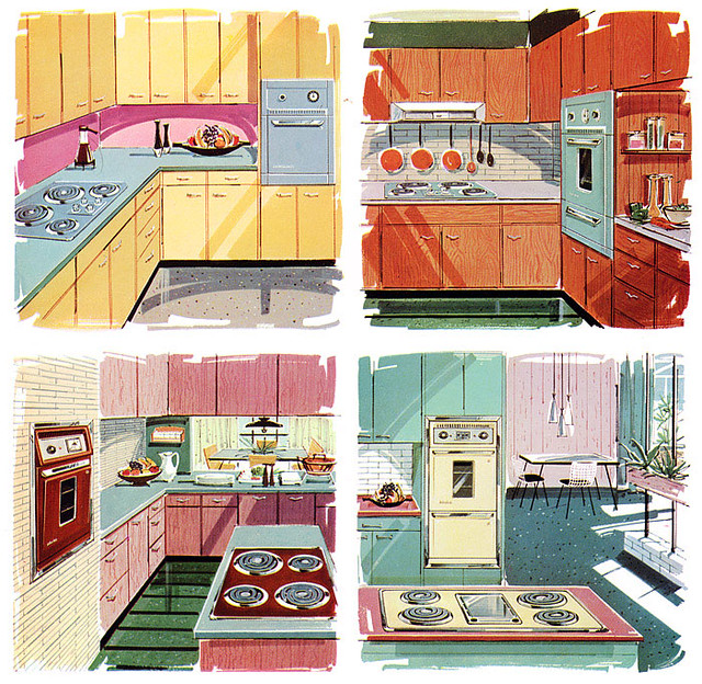 Kitchen colors of the 50 39 s 60 39 s and 70 39 s expolounge for Modern 50s style kitchen