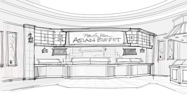 Design interior buffet design conceptual buffet design route 66