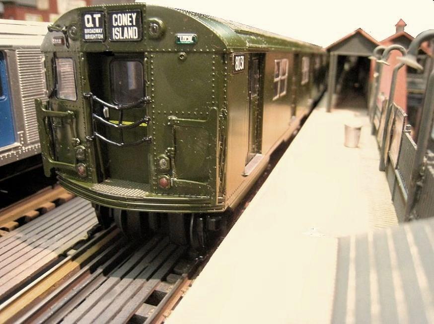 n y city model transit el trolley system in o scale. Black Bedroom Furniture Sets. Home Design Ideas