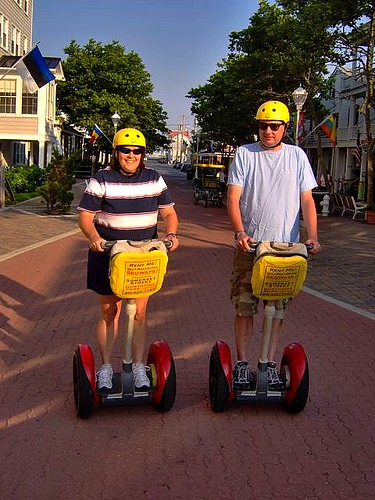OC needs to put titles in the flickr account - Jill & I on a Segway - July 2007
