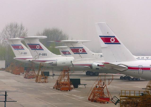 Air Koryo planes in Pyongyang airport - North Korea