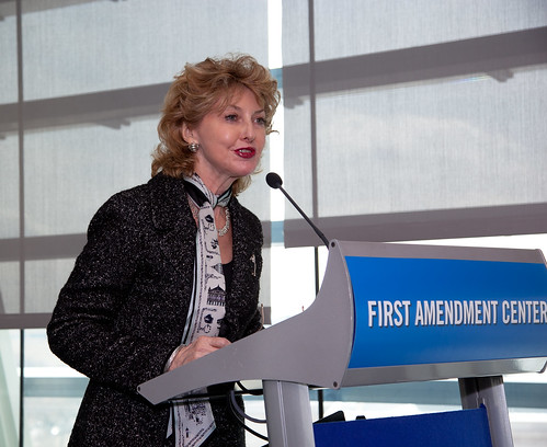 ALA President Roberta Stevens speaking at the 2011 Celebration of Freedom Of Information Day