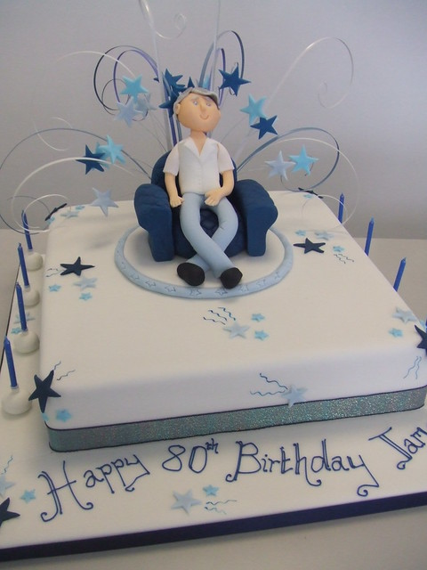 CAKE - 80th birthday cake Flickr - Photo Sharing!