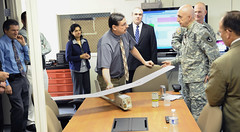 RDECOM leaders tour ECBC modeling and simulation facility