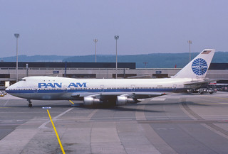 Pan Am Boeing 747-121; N748PA@ZRH, July 1986/ CAH