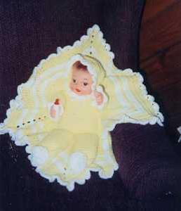 Amigurumi Christmas Tree Pattern Free : Vintage Crocheted Doll Baby in A Blanket Flickr - Photo ...