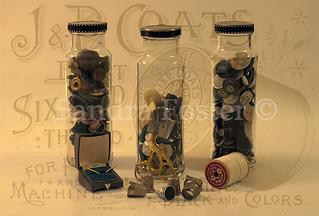 Three Button Jars - Still Life