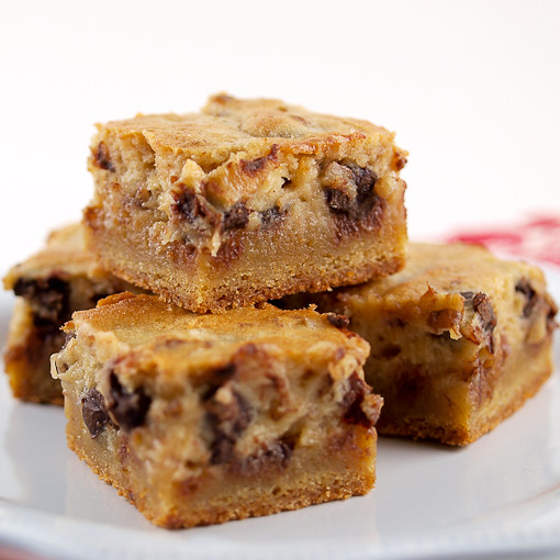 Chocolate Chip Gooey Butter Cake Bars