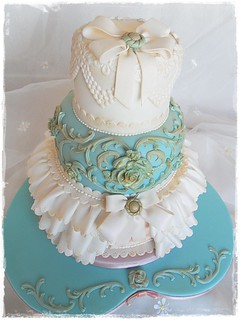 Vintage Wedding cake for Cakes and Sugarcraft project