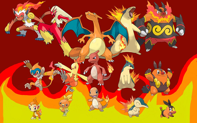 all starters fire red