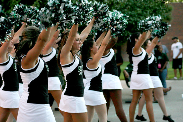 Cheerleaders at the pep rally flickr photo sharing