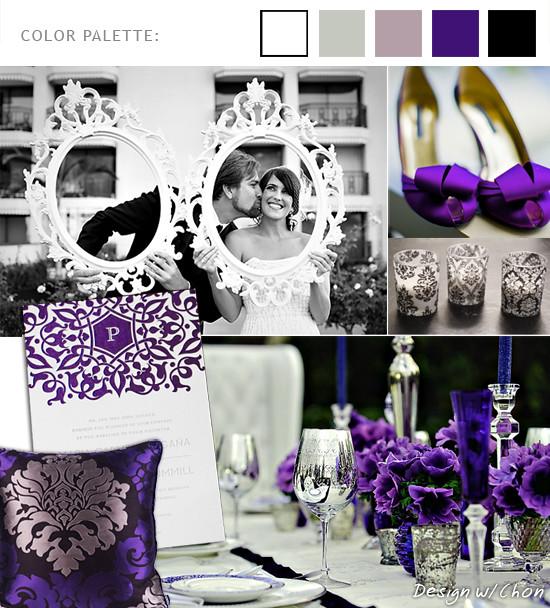 A Royal Purple Wedding