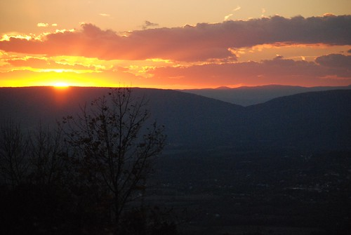 sunset virginia nationalpark shenandoah 2010 october2010
