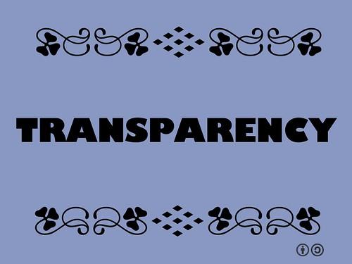 Buzzword Bingo: Transparency