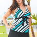Softening Rip Tide Plus Size Halter Skirtini by Beach Belle®