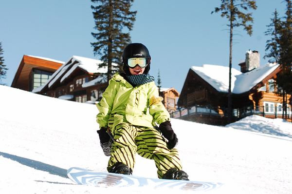 Big White kid snowboarder