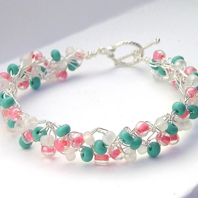 wire bead bracelet crochet bracelets jewelry
