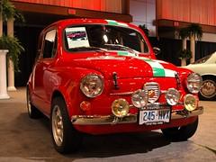 compact car(0.0), automobile(1.0), vehicle(1.0), automotive design(1.0), fiat 600(1.0), subcompact car(1.0), city car(1.0), antique car(1.0), vintage car(1.0), land vehicle(1.0), motor vehicle(1.0),