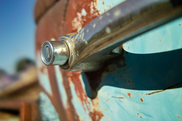 Rusty Truck Door Handle