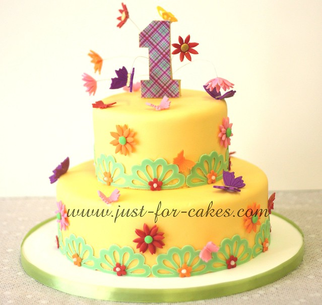 Birthday Cake Photos For 1st Birthday : Butterfly First Birthday cake Flickr - Photo Sharing!