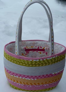 Folkart clothesline bag out of Sunkissed Fabrics