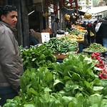 Vegetable market in downtown Amman, Jordan