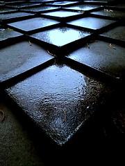 Tiles on a rainy day