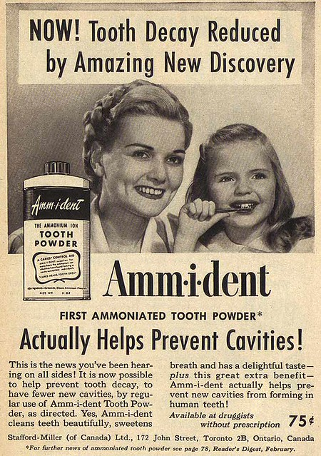 Vintage Ad #1,447: The First Ammoniated Tooth Powder!