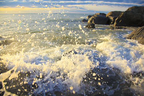 ocean morning sun color beach sunrise canon rocks experimental crash vibrant wave 5d 24105f4