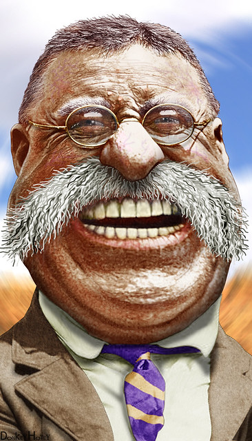 Teddy Roosevelt - Caricature from Flickr via Wylio