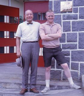 Taipei - David with T. S. Pai (1967)