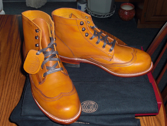 Wolverine Boots Tan Addison 1