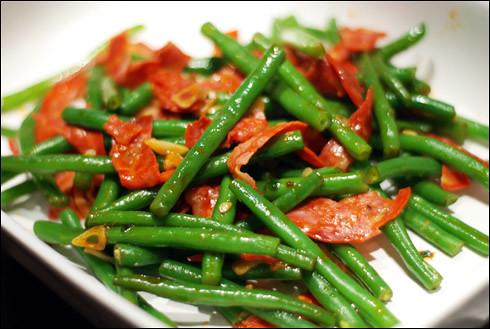 Green Beans and Chorizo   Flickr - Photo Sharing!