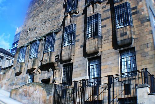 Western elevation at Glasgow School of Art