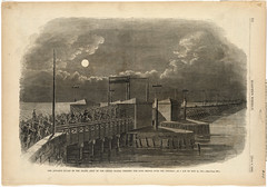The advance guard of the Grand Army of the United States crossing the Long Bridge over the Potomac, at 2 A.M. on May 24, 1861