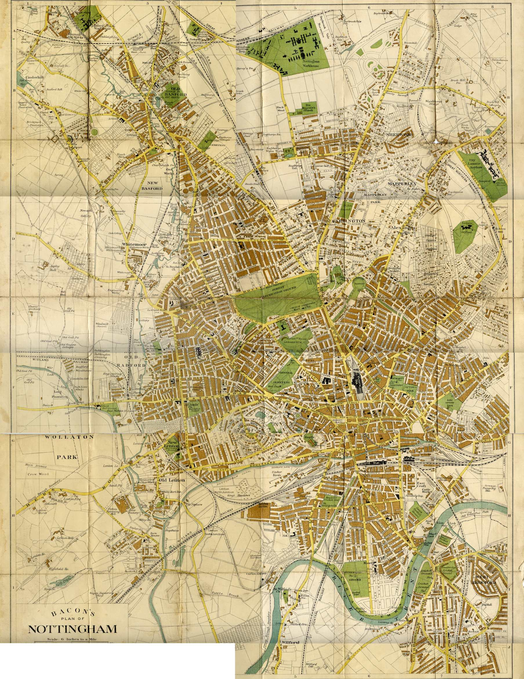 nottingham 1920s old maps of nottingham nottstalgia. Black Bedroom Furniture Sets. Home Design Ideas