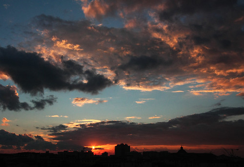 livorno skyline - today sunset from my home