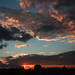 livorno skyline - today sunset from my home by paololivorno