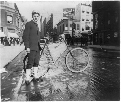 Alice Austen photo - Messenger & His Bike