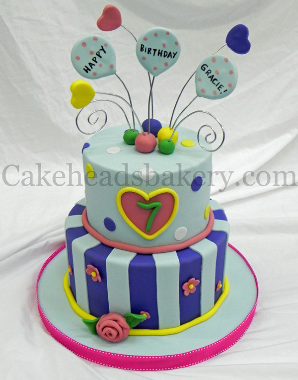 Gracies 7 Year Old Birthday Cake