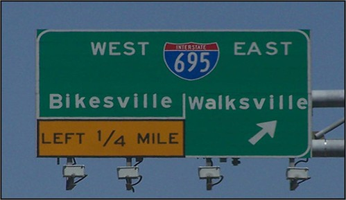 bikesville walksville sign