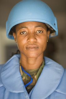 Portrait of Woman Peacekeeper, Liberia