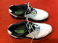 ball(0.0), sports equipment(0.0), tennis shoe(1.0), outdoor shoe(1.0), sneakers(1.0), footwear(1.0), white(1.0), shoe(1.0), athletic shoe(1.0),