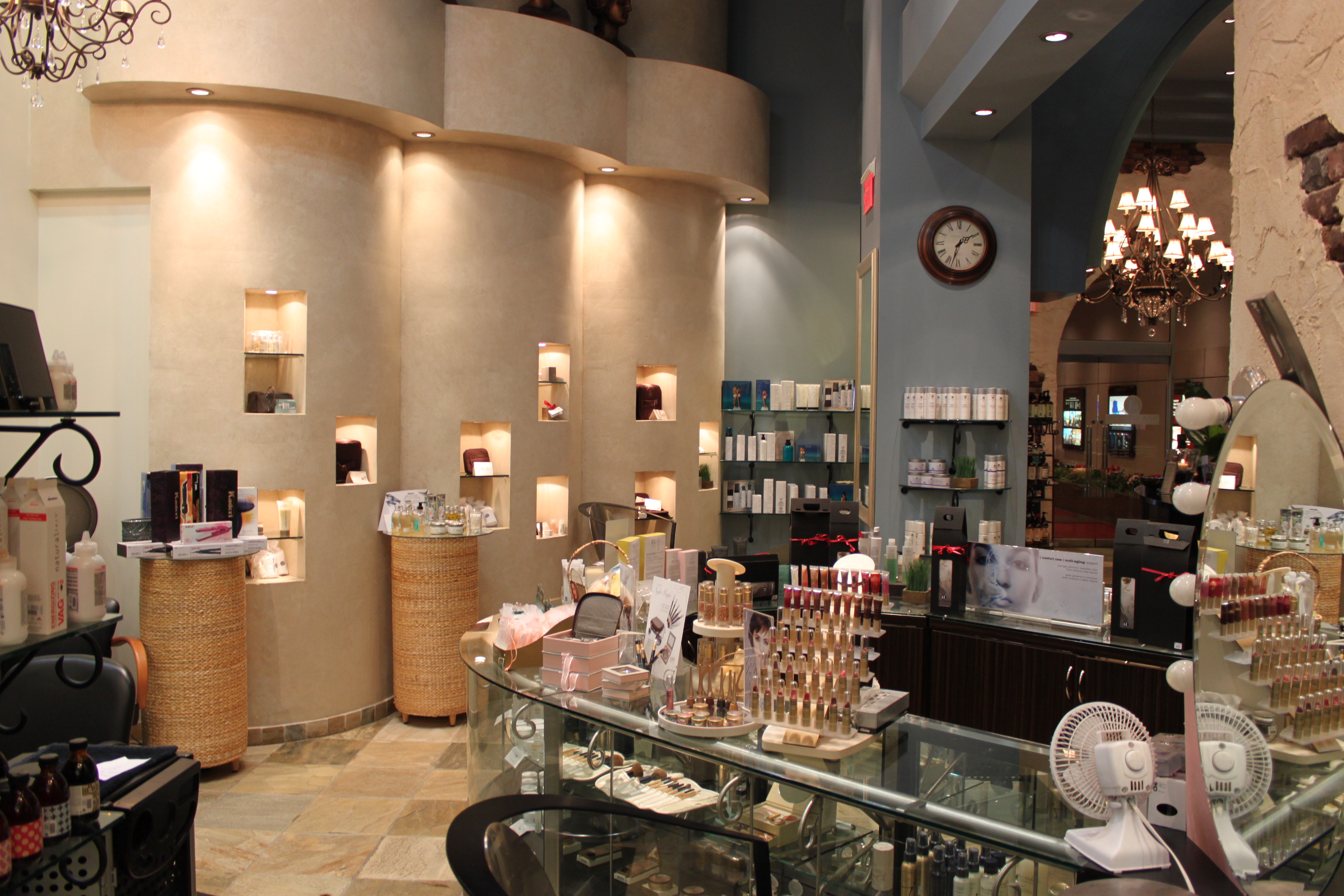 spa utopia vancouver cosmetic counter and hair salon