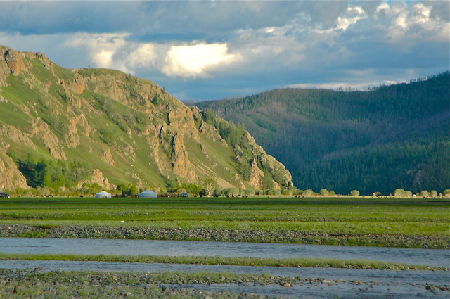 Orkhon river Mongolia.