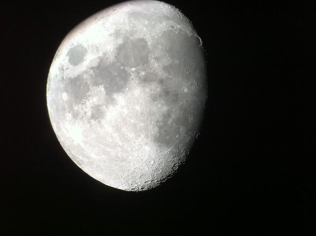 Moon photo taken with iPhone through telescope | Flickr - Photo ...