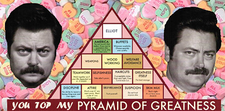 picture relating to Ron Swanson Pyramid of Greatness Printable Version named Ron Swanson Pyramid Of Greatness Printable Edition