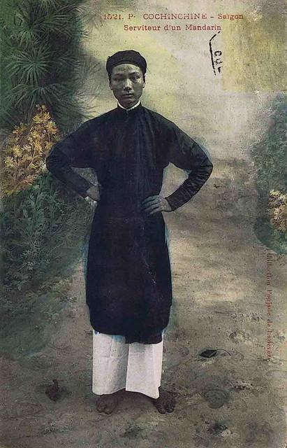 SAIGON 1909 - Serviteur d'un Mandarin